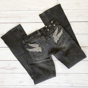 Miss me size 26 black bootcut jeans